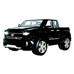 Rollplay 12V Chevrolet Silverado Ride-On in Black