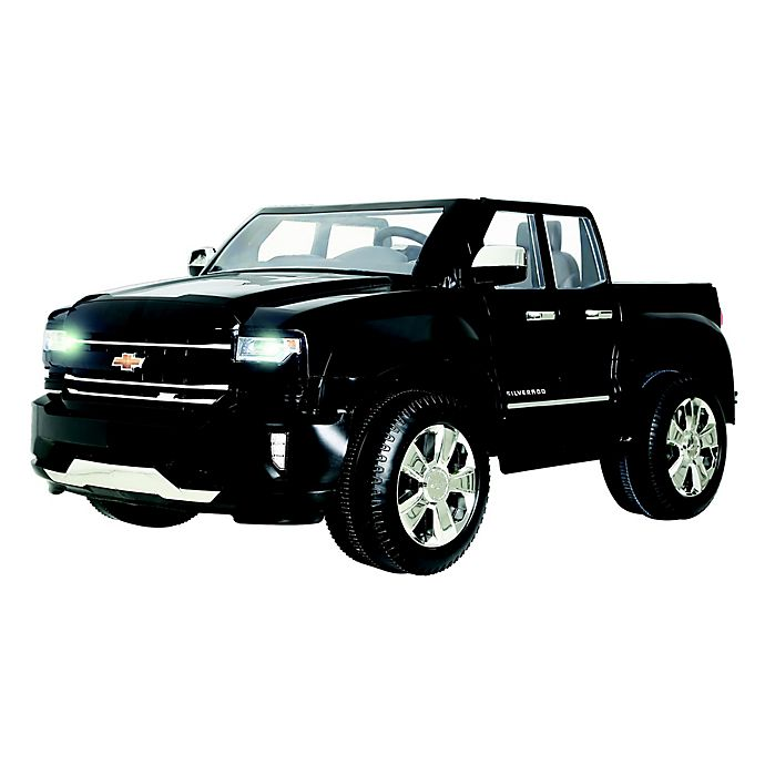Alternate image 1 for Rollplay 12V Chevrolet Silverado Ride-On in Black