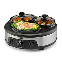 TRU 3 Crock Versi-Temp Hot and Cold Slow Cooker