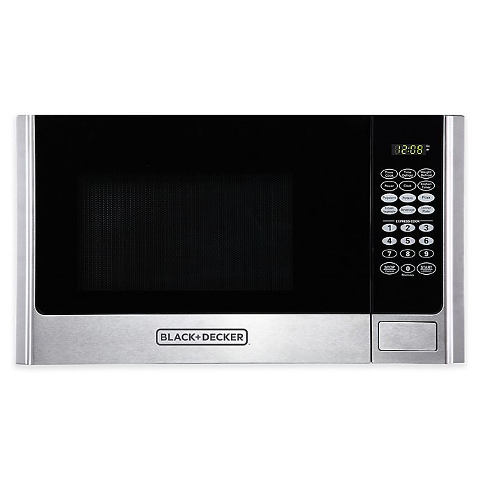 Alternate image 1 for Black & Decker™ 0.9 cu. ft. Microwave Oven in Stainless Steel