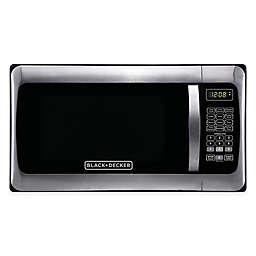 Black & Decker™ 1.1 cu. ft. Microwave Oven in Stainless Steel/Black