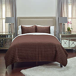 Rizzy Home Satinology Twin Quilt Set in Brown