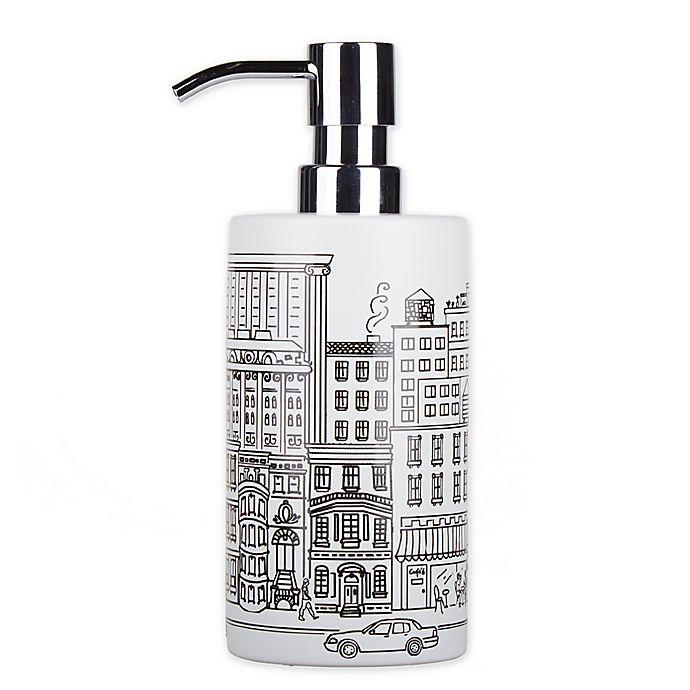 Alternate image 1 for NYC Skyline Lotion Dispenser in White