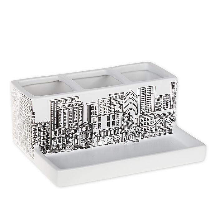 Alternate image 1 for NYC Skyline Storage Tray in White