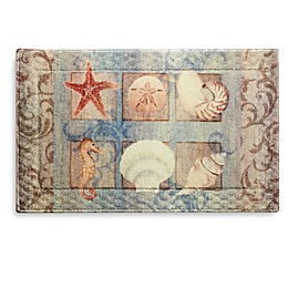 Bacova Ocean Shell Bath Rug Collection
