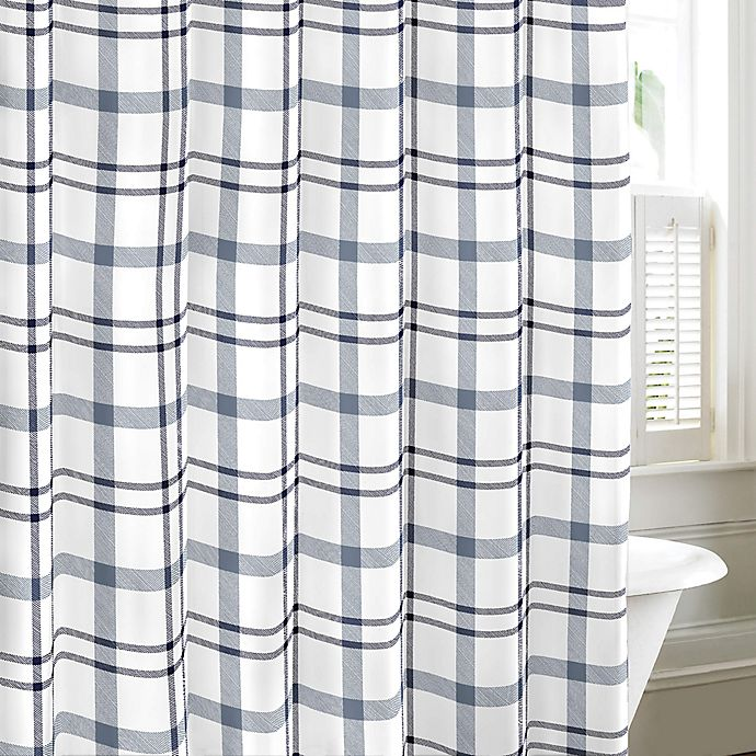 Alternate image 1 for Eddie Bauer Cordova Chambray Shower Curtain in Blue
