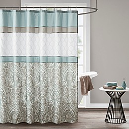 510 Design Shawnee Embroidered Shower Curtain in Blue