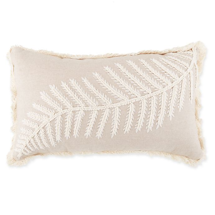 Alternate image 1 for Renne Fern Oblong Throw Pillow in Natural/Cream