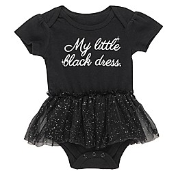 "Baby Starters® ""My Little Black Dress"" Tulle Skirt Bodysuit in Black"