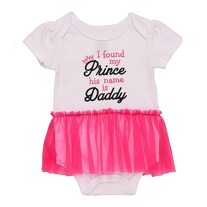 Alternate image 1 for Baby Starters® Prince Tutu Bodysuit in White