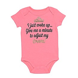 "Baby Starters® ""I Just Woke Up"" Short Sleeve Bodysuit in Pink"