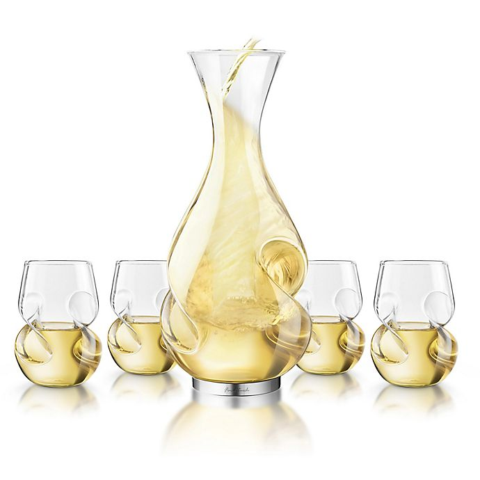 Alternate image 1 for Final Touch 5-Piece L'Grand Conundrum Aerator Decanter Set