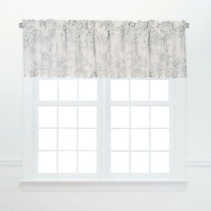 Alternate image 1 for Clementina Valances in Grey (Set of 2)