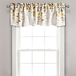 Lush Décor Weeping Flower Window Valance in Yellow