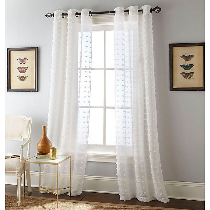 Alternate image 1 for Payton 2-Pack 84-Inch Grommet Window Curtain Panels in White