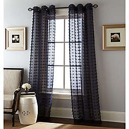 Payton 2-Pack 84-Inch Grommet Window Curtain Panels in Navy