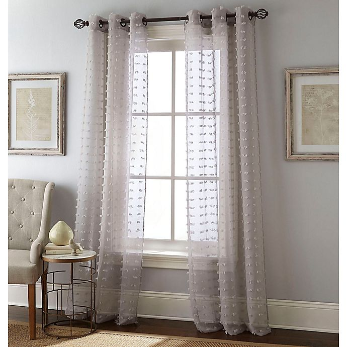 Alternate image 1 for Payton 84-Inch Grommet Window Curtain Panel Pair in Grey