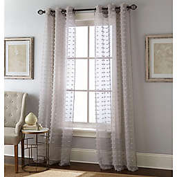 Payton 2-Pack 84-Inch Grommet Window Curtain Panels in Grey