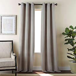 Dean 2-Pack 84-Inch Grommet Window Curtain Panels in Taupe