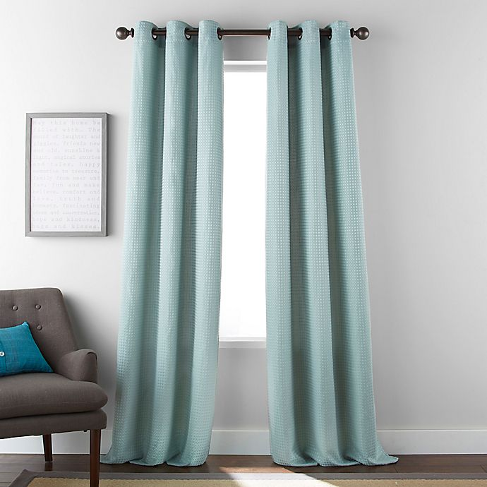 Alternate image 1 for Dean 84-Inch Grommet Window Curtain Panel Pair in Mineral