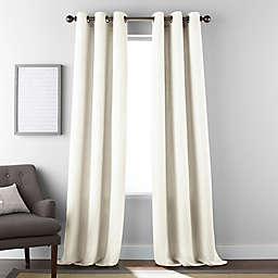 Dean 2-Pack 84-Inch Grommet Window Curtain Panels in Ivory