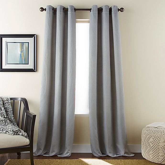 Alternate image 1 for Dean 84-Inch Grommet Window Curtain Panel Pair in Grey
