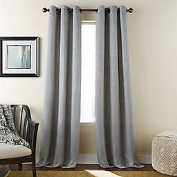 Dean 2-Pack 84-Inch Grommet Window Curtain Panels in Grey