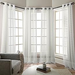 Olly Grommet Sheer Window Curtain Panels (Set of 4)