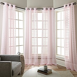 Olly Grommet Sheer Window Curtain Panels (Set of 4)