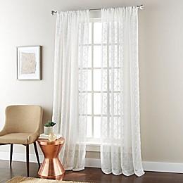 Jess Rod Pocket Sheer Window Curtain Panel