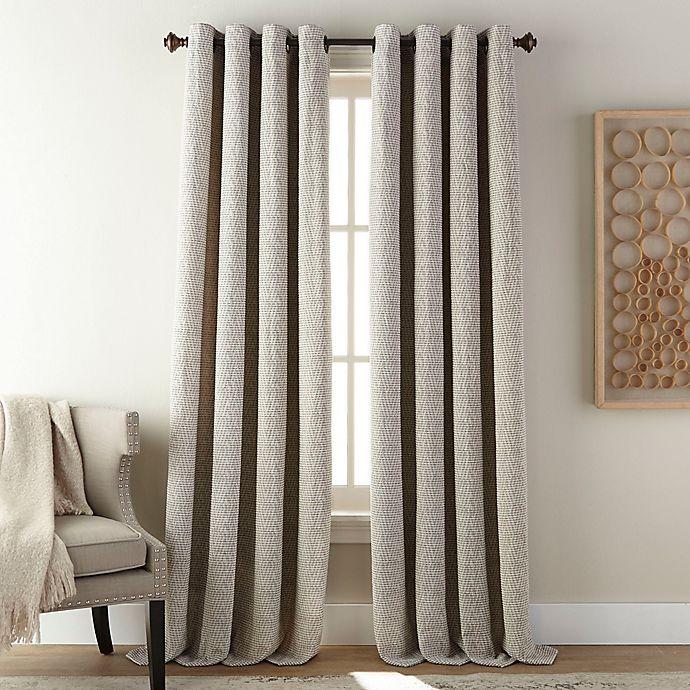 Alternate image 1 for Fuller 84-Inch Grommet Room Darkening Window Curtain Panel in Steel Grey