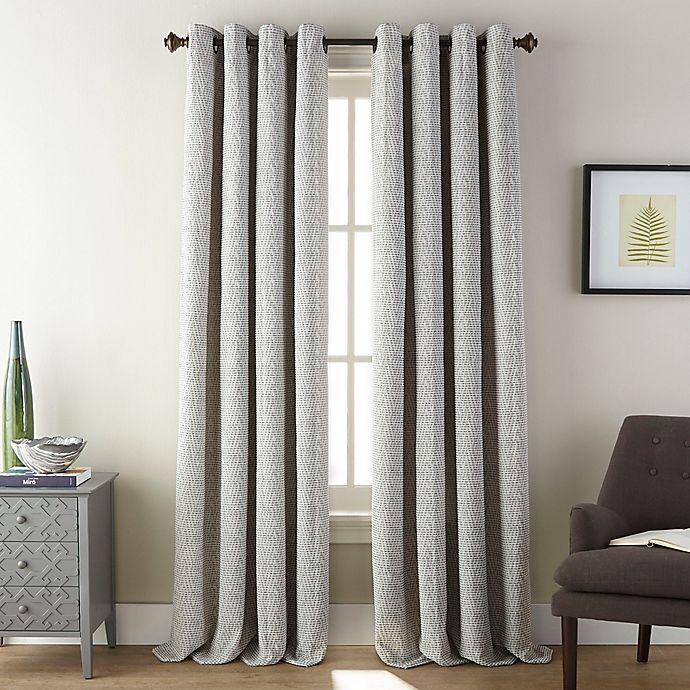 Alternate image 1 for Fuller 84-Inch Grommet Room Darkening Window Curtain Panel in Aluminum