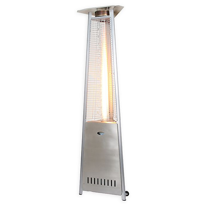 Alternate image 1 for Zen Temp 3-Sided 92-Inch Natural Gas Patio Heater in Stainless Steel