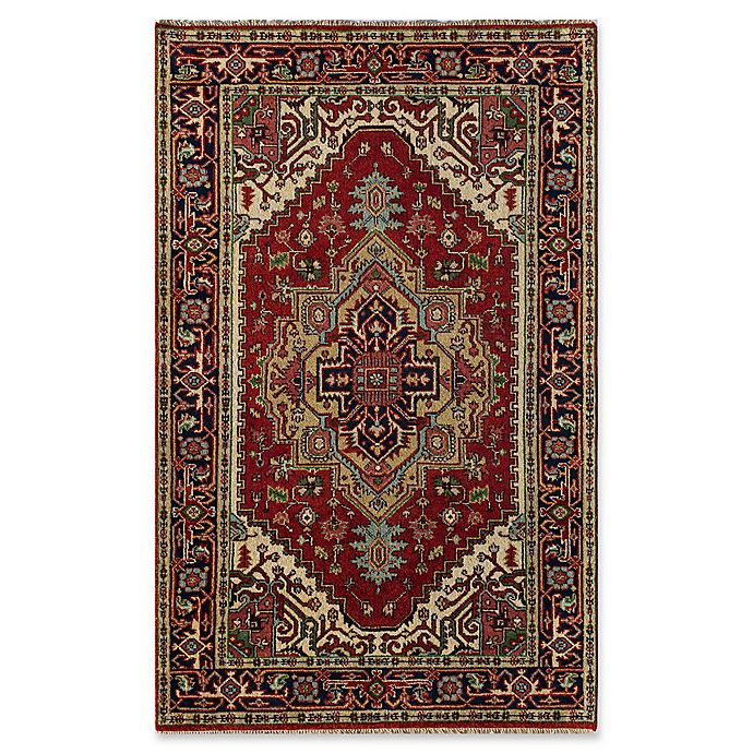 Alternate image 1 for Rugs America Jira 4' X 6' Hand-Knotted Area Rug in Burgundy