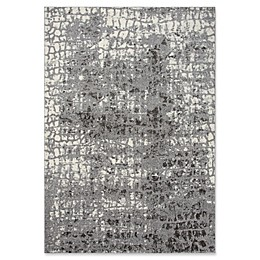 Rizzy Home Abstract Area Rug in Ivory/Grey