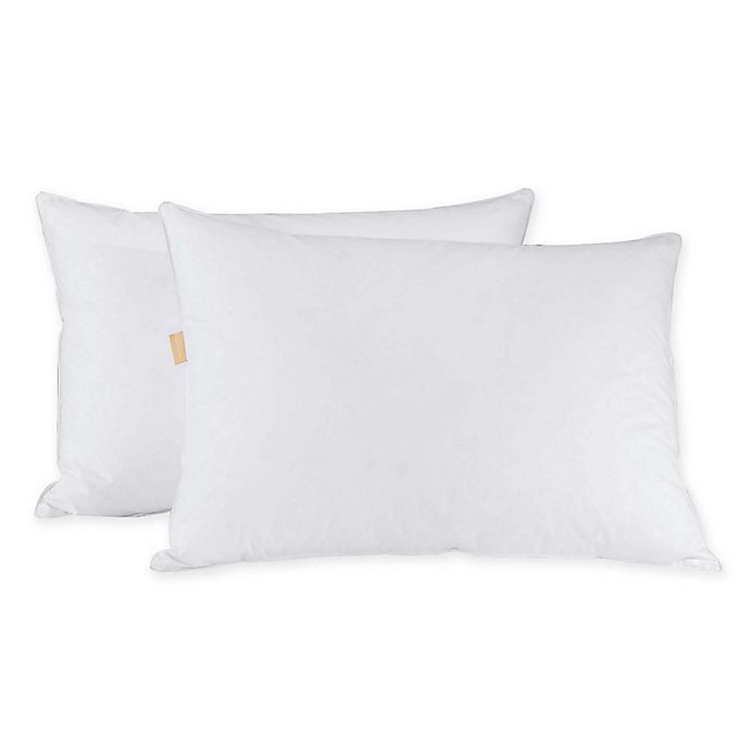 Alternate image 1 for Puredown Grey Gooseblend Queen Pillows (Set of 2)