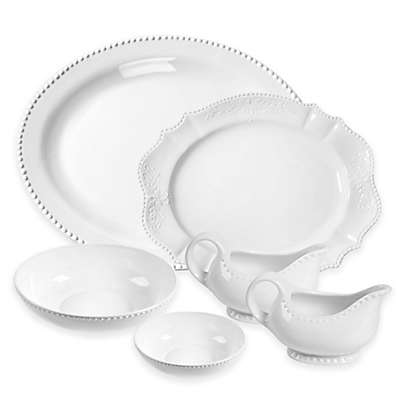 Tabletops Unlimited® Beaded Serveware Collection in White