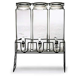Circleware Yorkshire XL Beverage Dispenser with Black Lid/Stand (Set of 3)