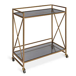 Kate and Laurel Blex Bar Cart in Black/Gold