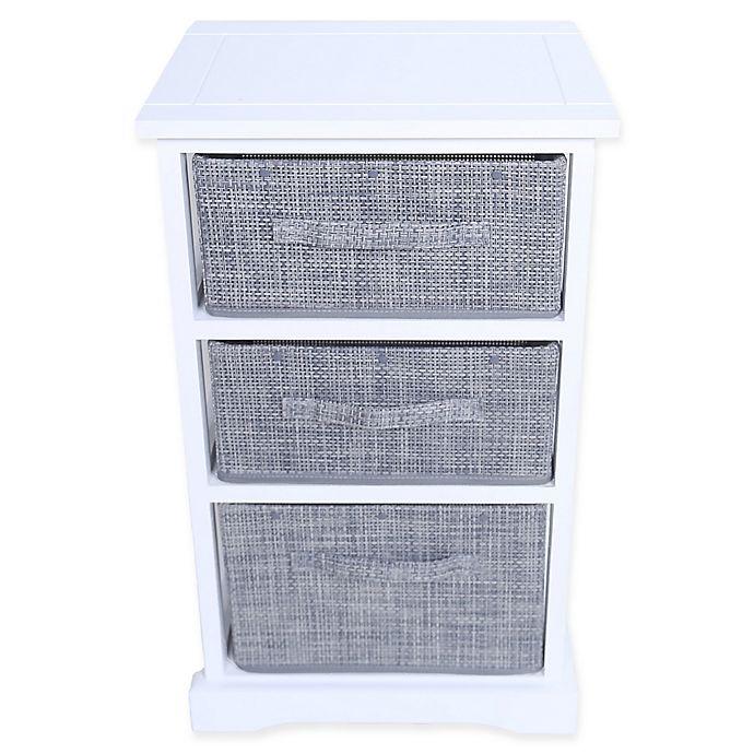 Alternate image 1 for Baum-Essex Parker 3-Drawer Accent Cabinet in White/Grey