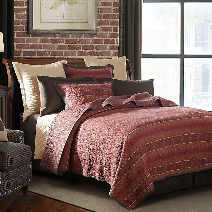 Alternate image 1 for HiEnd Accents Rushmore Twin Quilt Set in Red