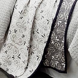 HiEnd Accents Fleur De Lis Reversible Quilt Set