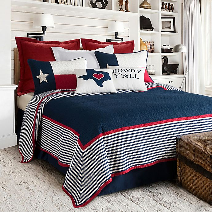 Alternate image 1 for HiEnd Accents Ranger Reversible Full/Queen Quilt Set in Navy/White