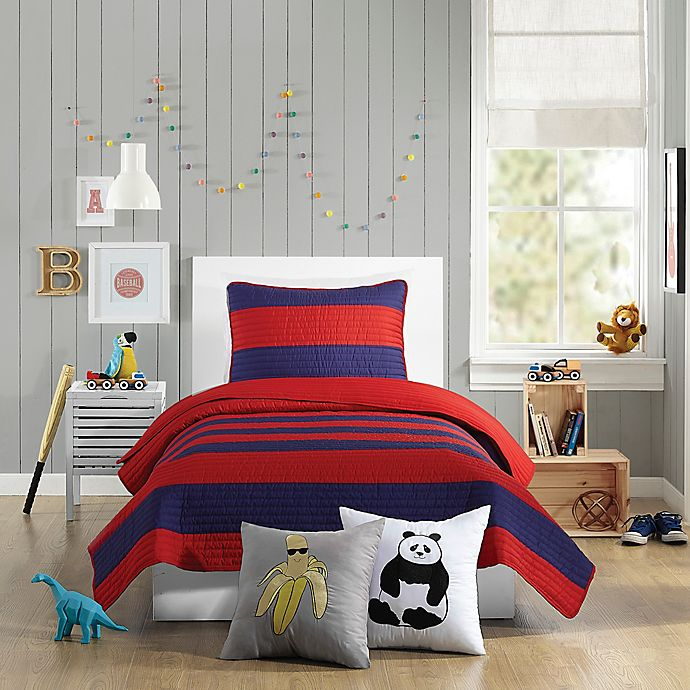Alternate image 1 for Urban Playground Lavelle Twin Quilt in Red