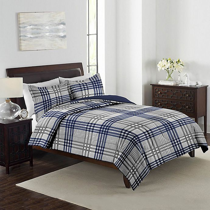Alternate image 1 for Marjorie Plaid 3-Piece Reversible Comforter Set