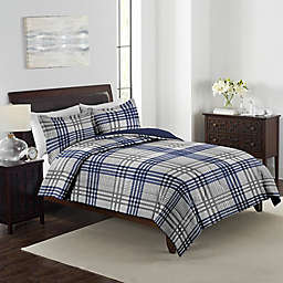 Marjorie Plaid 3-Piece Reversible Comforter Set