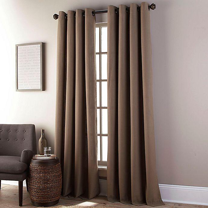 Alternate image 1 for Everett 84-Inch Grommet Window Curtain Panel in Camel