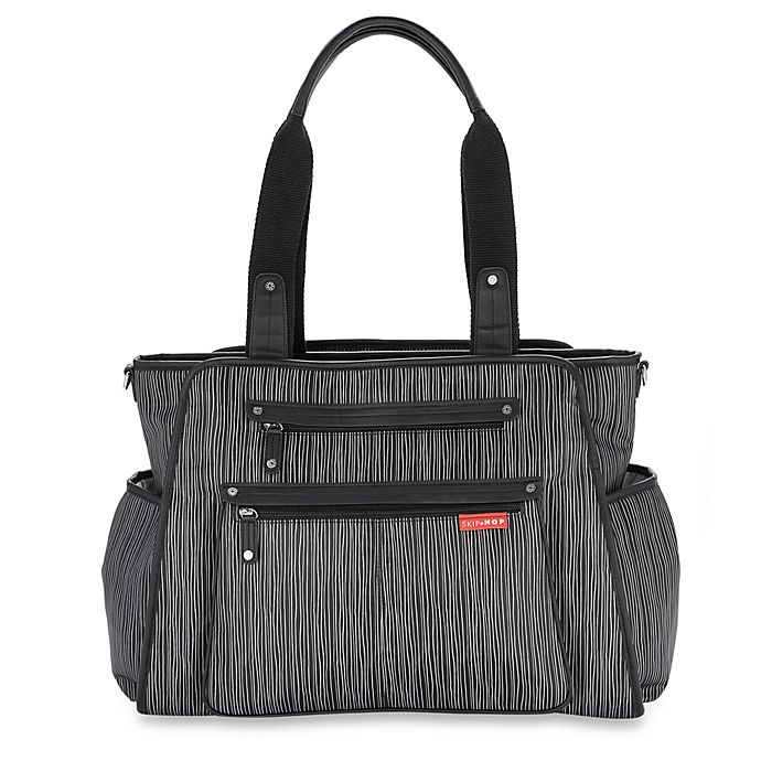 Alternate image 1 for SKIP*HOP® Grand Central Take-It-All Diaper Bag in Wavy Stripe