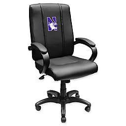 Northwestern University Wildcats Logo Office Chair 1000 in Black