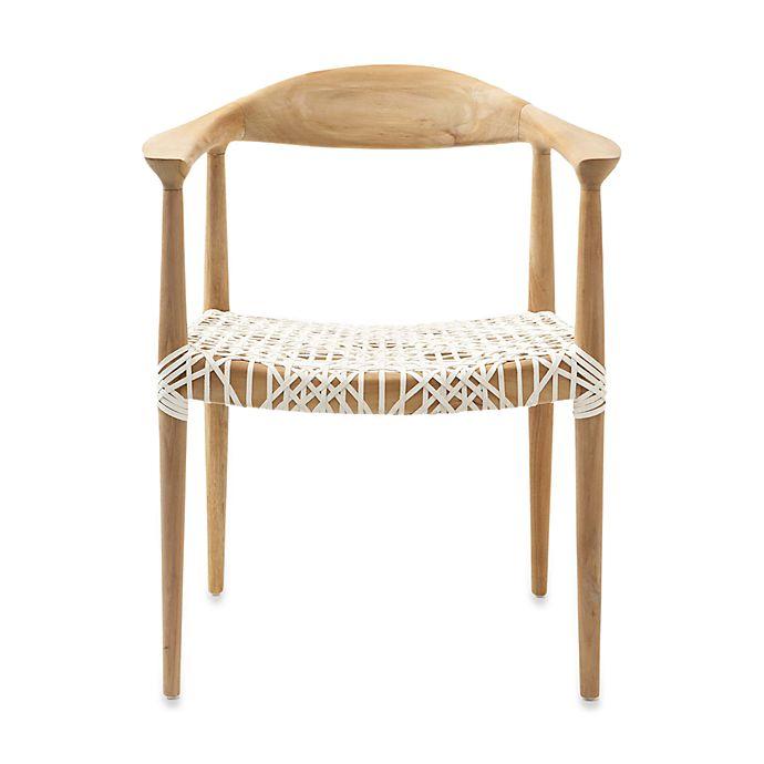 Alternate image 1 for Safavieh Bandelier Reclaimed Teak Armchair in Light Oak